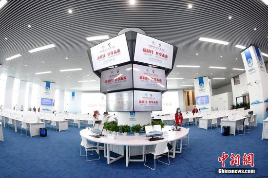 Media center of third China International Import Expo puts into use