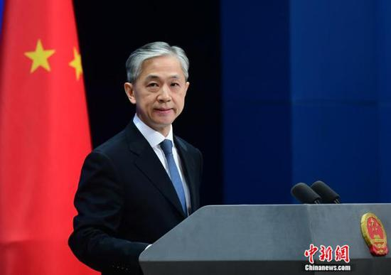 Wang Wenbin, spokesperson for China's Foreign Ministry, addresses a press conference on Nov. 5, 2020. (Photo/China News Service)