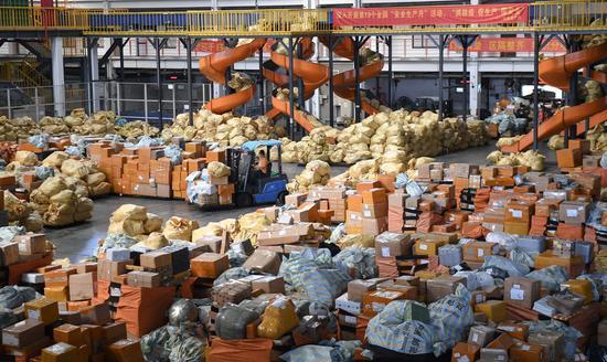 中国消费者在双十一购物节上花了很多钱