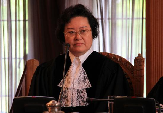Xue Hanqin was sworn in as a judge of the International Court of Justice (ICJ) in The Hague, the Netherlands, Sept. 13, 2010. (Xinhua/Pan Zhi)