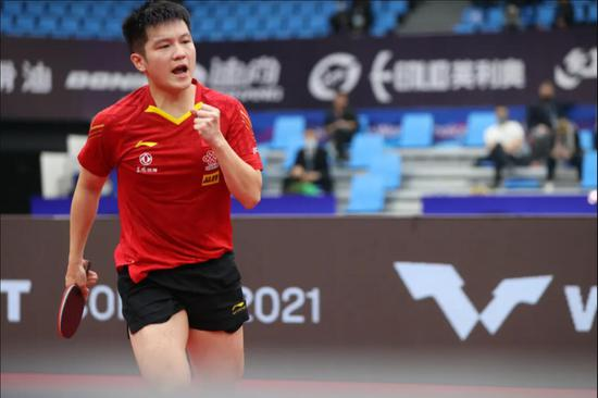 China's Fan wins third straight ITTF World Cup