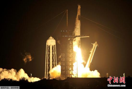 NASA, SpaceX launch first crew rotation mission to space