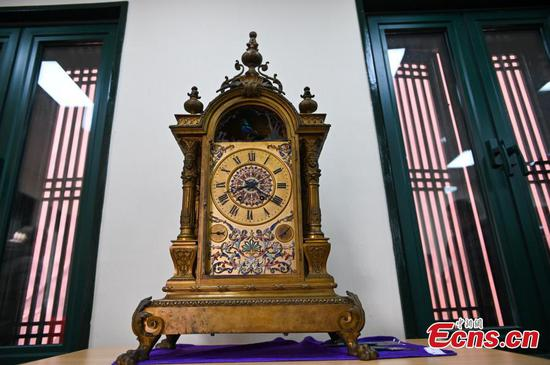 Restored ancient clocks unveiled at Shenyang Palace Museum