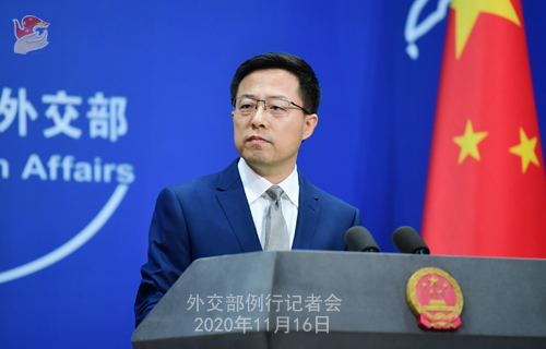 Zhao Lijian, spokesman for Chinese Foreign Ministry. (Photo/fmprc.gov.cn)