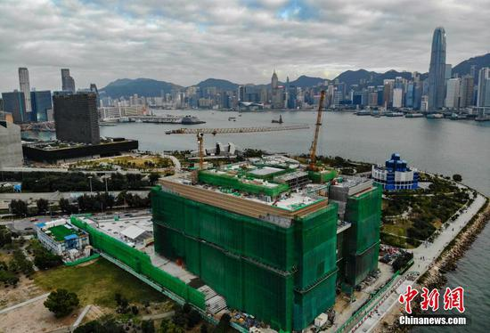 Main structure of Hong Kong Palace Museum building completed