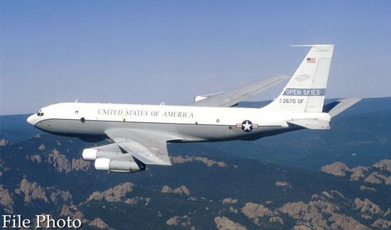 A file photo of a U.S. OC-135 plane