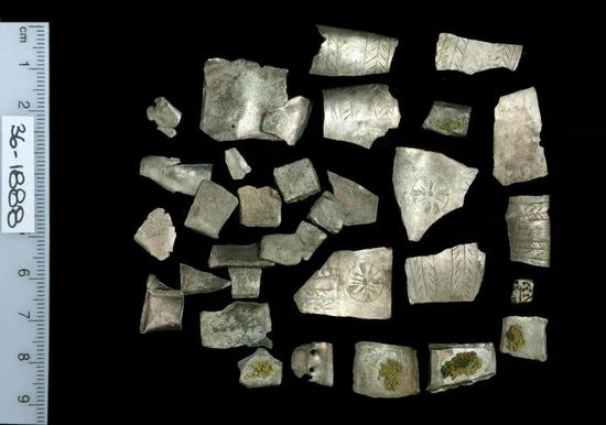 Photos show counterfeit silver pieces from 3,000 years ago. (Provided by University of Haifa)