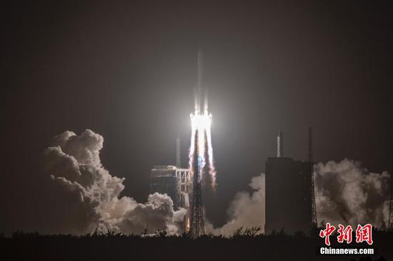 China launches 1st lunar sample return mission
