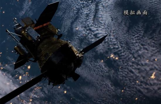 中国的e娥五号探测器完成了第一次轨道校正