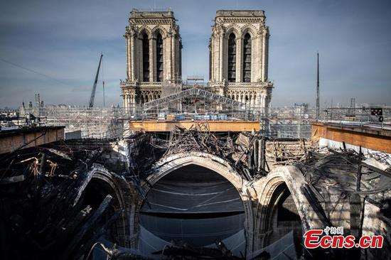 Reconstruction of Notre-Dame Cathedral in Paris reaches turning point