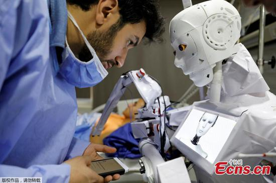 Remote-controlled robot runs tests on suspected COVID-19 patients in Egypt