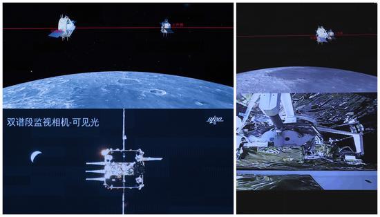 中国完成了首个在月球轨道对接的航天器交会