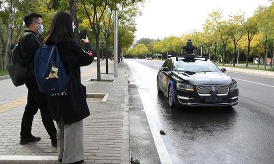 百度获得在北京进行完全无人驾驶道路测试的首个许可证