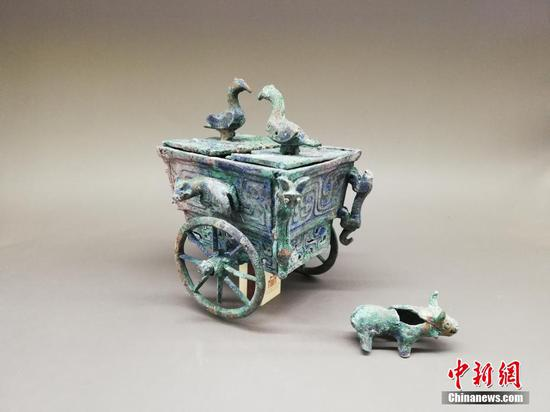 Cultural relics unearthed from ancient tombs in China