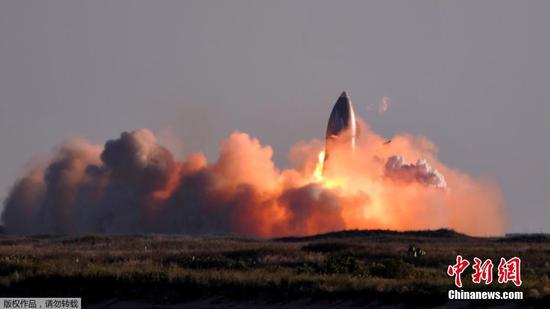 SpaceX Starship试飞在着陆时爆炸