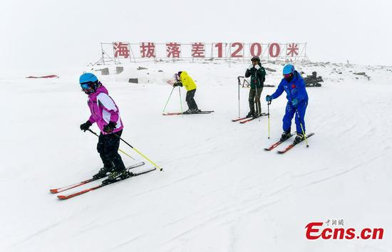 A glimpse of Keketuohai International Ski Resort in Xinjiang's Altay