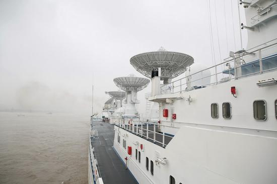 China's space-tracking vessel departs for Indian Ocean missions