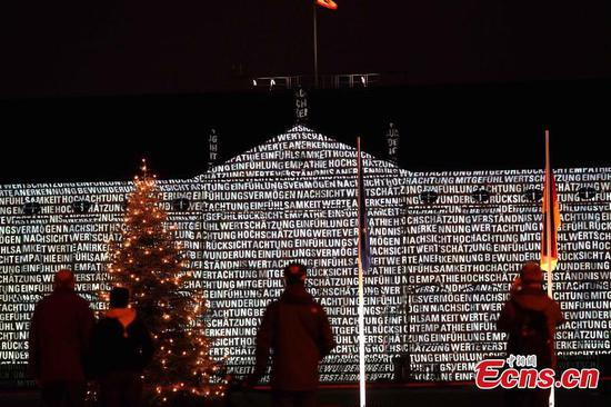 Message wall of Bellevue Palace shines hope