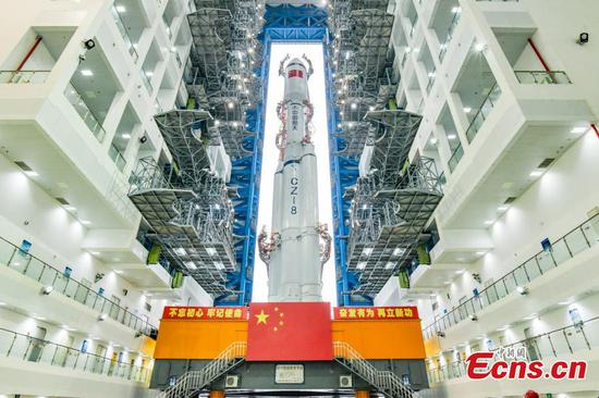 China's Long March-8 rocket in position for test flight