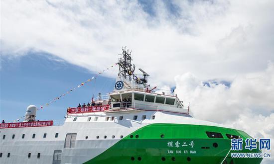 """中国""""探索者2号""""研究船在马里亚纳海沟结束任务,创造了新的世界纪录"""