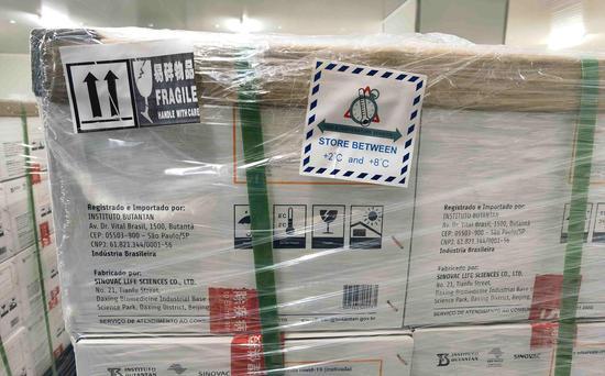 与狂犬病疫苗类似,要运送到巴西的COVID-19疫苗可以在2至8摄氏度下保存。图片/ CGTN)