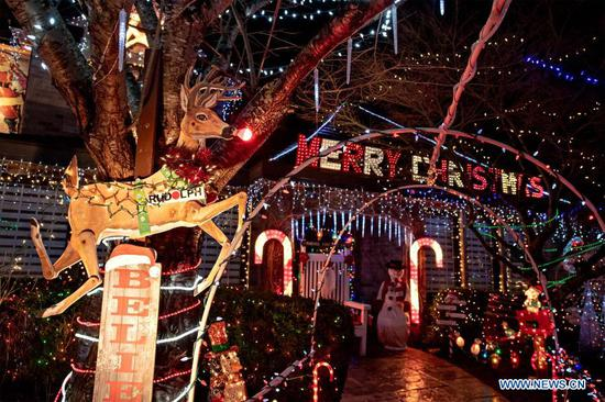 Canada's Woodman family in Richmond decorated with light displays during Christmas festive season
