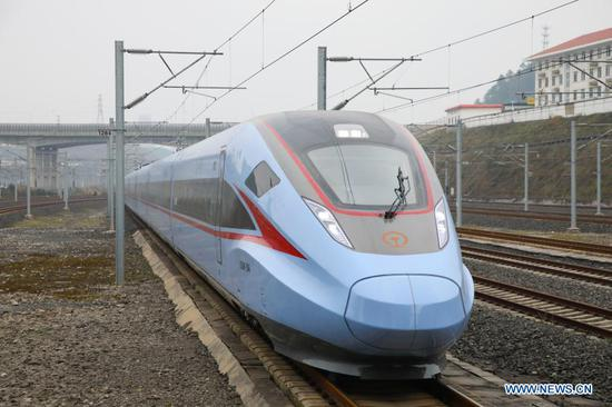 New-type Fuxing bullet train sets off from Guiyang to Liupanshui
