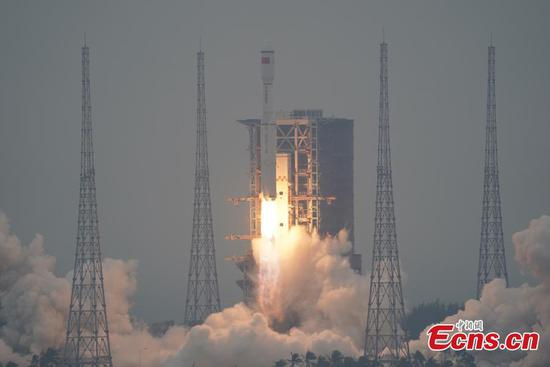 China's Long March-8 carrier rocket lifts 5 satellites in maiden fligh