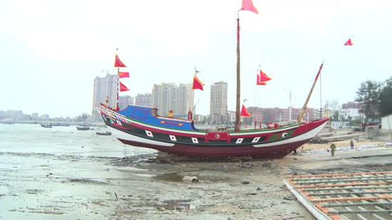 30-meter-long Ming Dynasty replica ship restored