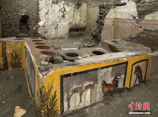 'Fast food' eatery unearthed in Pompeii