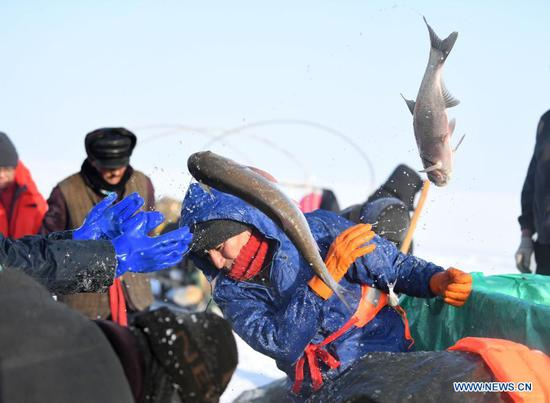 In pics: winter fishing in Xinjiang