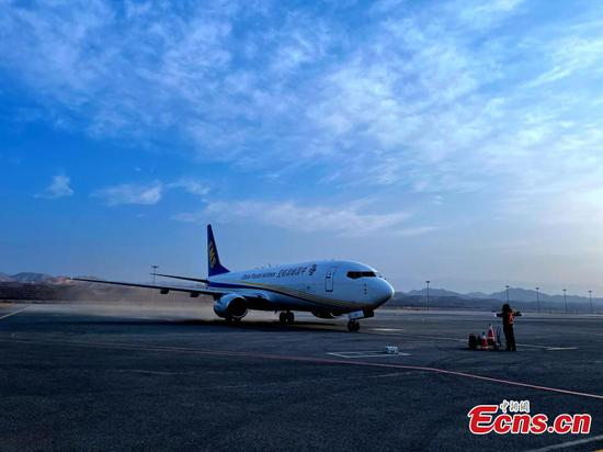 Largest all freight air route in Qinghai-Tibet Plateau officially opens