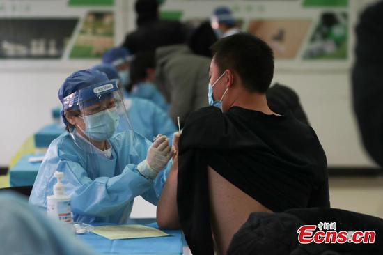 COVID-19 vaccination underway in Beijing