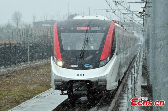 New-type automated urban train rolled off assembly line in Chengdu