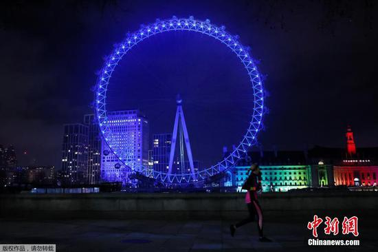 London's landmarks light up in blue to salute NHS staff battling COVID-19