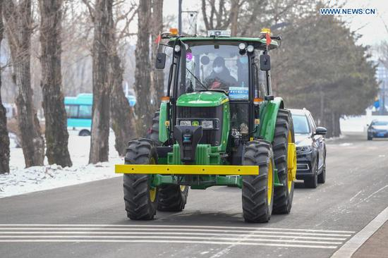 Driverless vehicle winter challenge competition held in Changchun