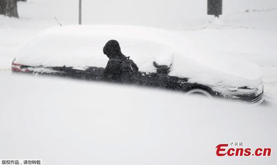 Heavy snowfall in Helsinki, Finland