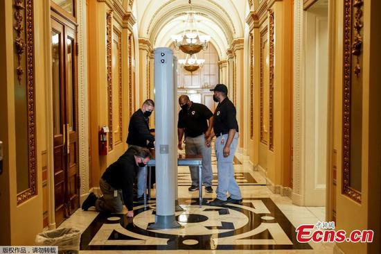 Security restoration work continues at U.S. Capitol