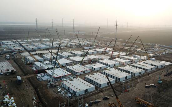 Isolation center under construction in Shijiazhuang to cope with COVID-19 resurgence