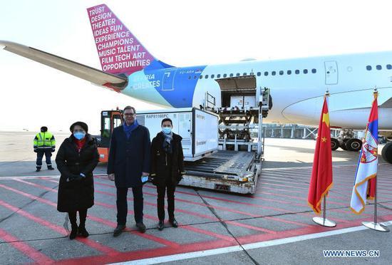 塞尔维亚从中国接收了100万张国药疫苗