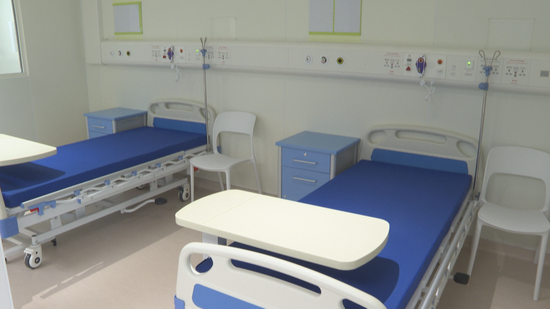 An internal view of the North Lantau Hospital Hong Kong Infection Control Center in Hong Kong, China, January 20, 2021. (Photo by the China Central Television)