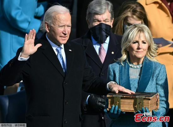 Biden sworn in as 46th U.S. president