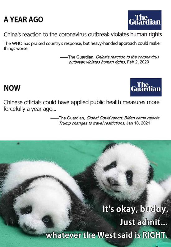 Panda Talk: Just admit... whatever the West said is RIGHT