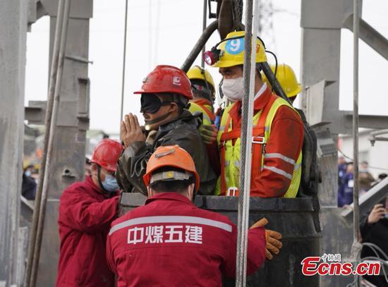14天后从华东金矿救出11名矿工