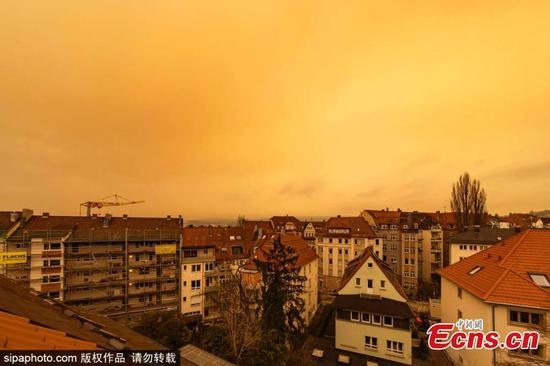 Rare weather phenomenon appears in Stuttgart