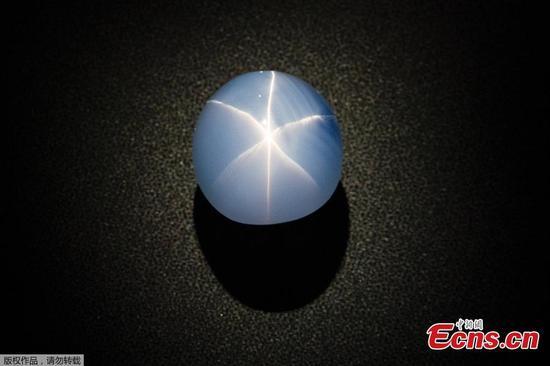 563克拉蓝宝石在美国自然历史博物馆展出