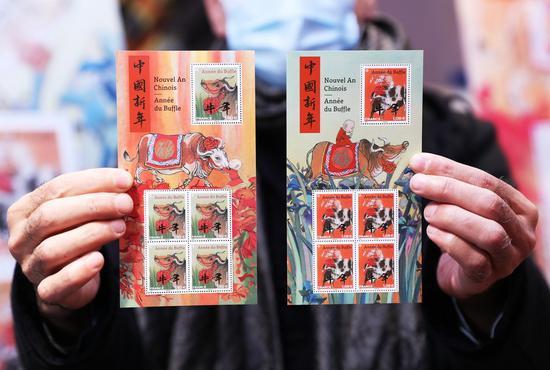 法国邮政发行邮票庆祝牛年