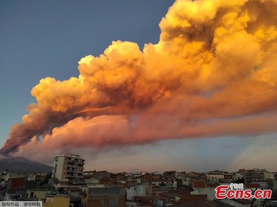 Mount Etna erupts in Italy