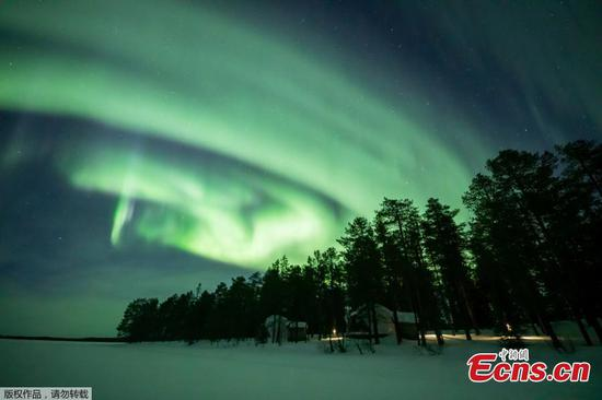 'Magical' Aurora Borealis dances over Finnish Lapland