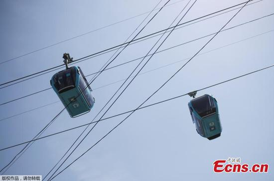 Mexico City launches first line of cable car system